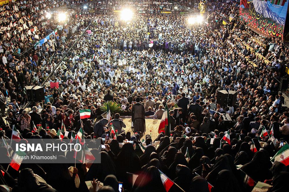 اولین همایش حامیان رئیسی در تهران (عکس)
