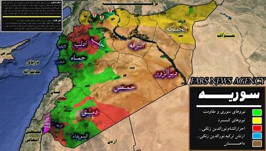 عکس/تازهترین نقشه سوریه؛ کجا تحت کنترل ارتش است؟
