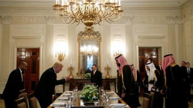 Trump receives Saudi deputy crown prince at White House