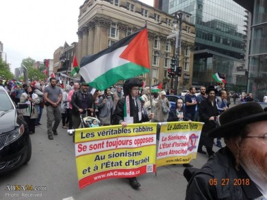 Solidarity with Palestine held in Montreal, Canada
