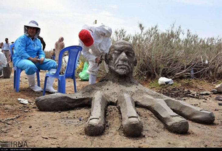 Salt Statues on Display in Art Festival East of Iran