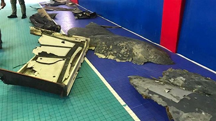Iran releases first photos of downed US drone's wreckage