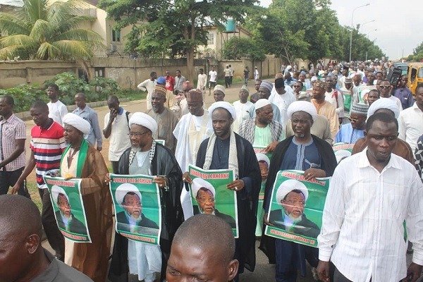 Massive Free Zakzaky Protest in Abuja on 1st July