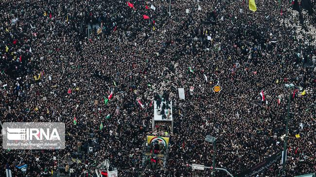 Gen. Soleimani's body in hometown for burial: Millions join Kerman funeral