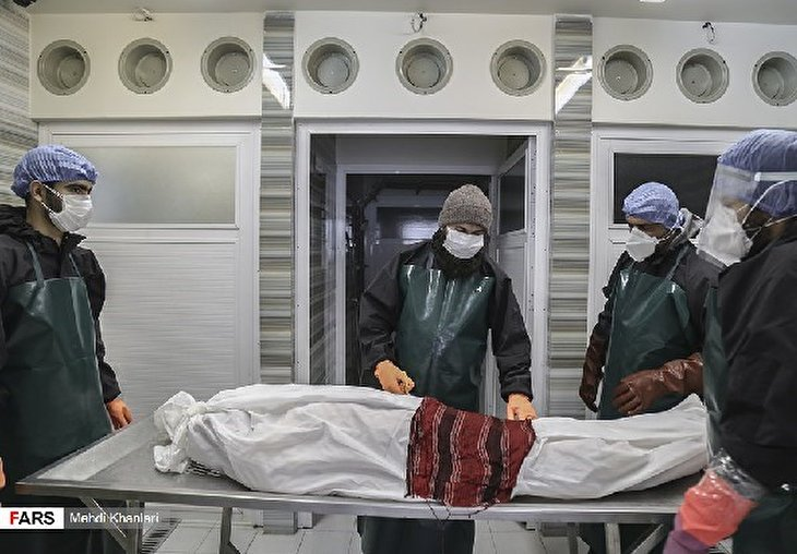 COVID-19 in Iran: Volunteers Washing Dead Bodies in Baqiyatallah Hospital