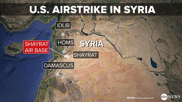 حمله موشکی آمریکا به سوریه، اهداف و پیامدها