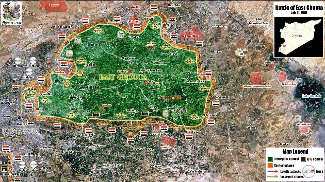 پیچیدگی بحران در غوطه شرقی