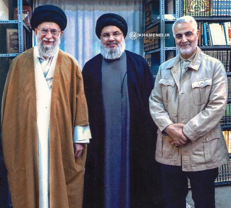 تصویری جدید از سردار سلیمانی و سیدحسن نصرالله در محضر رهبر انقلاب